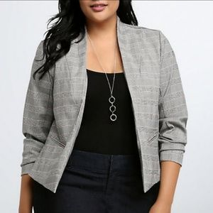 Torrid plaid grey blazer